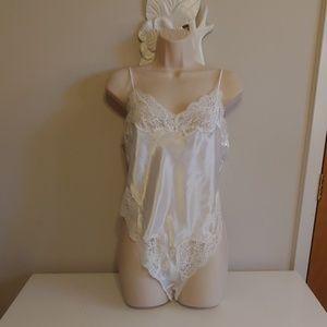 Vintage bridal teddy bodysuit